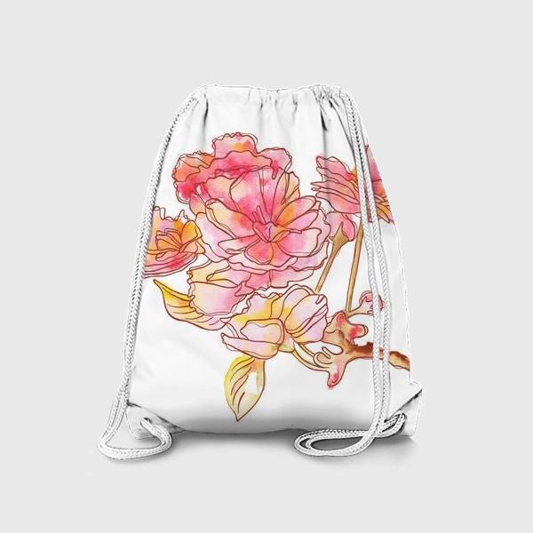 Рюкзак «Цветы розовые»