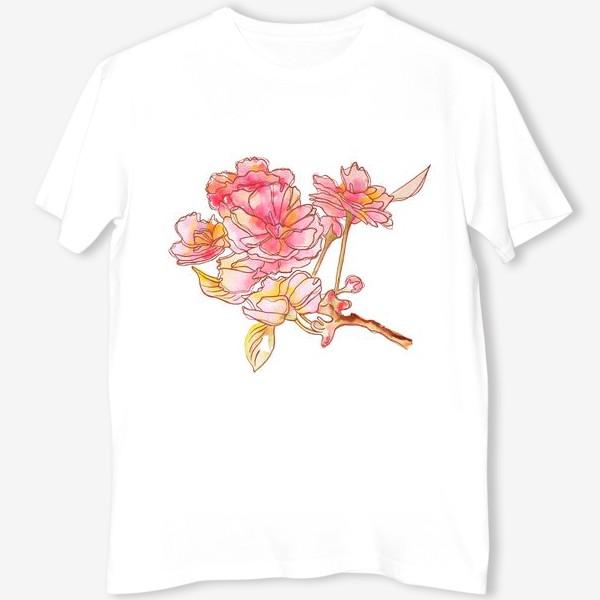 Футболка «Цветы розовые»