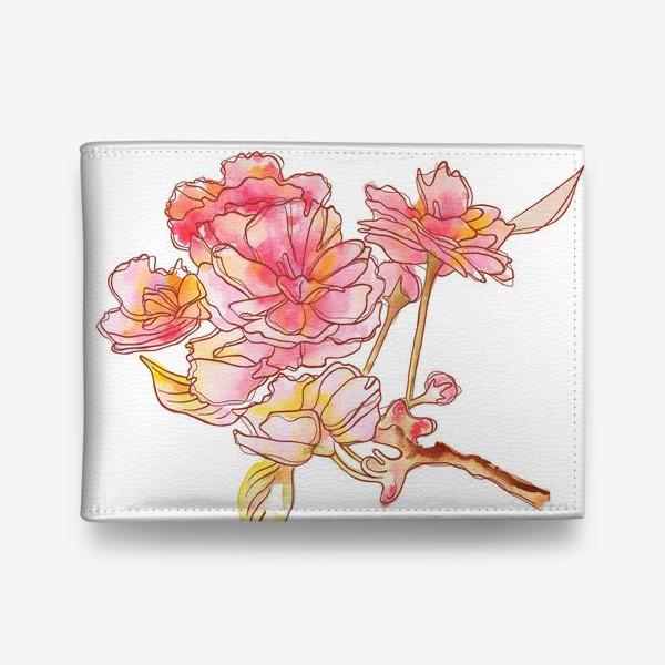 Кошелек «Цветы розовые»
