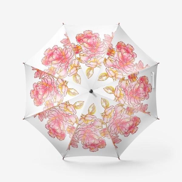 Зонт «Цветы розовые»