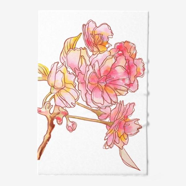 Полотенце «Цветы розовые»
