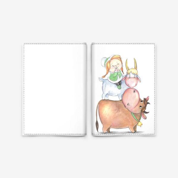 Обложка для паспорта «козероги»