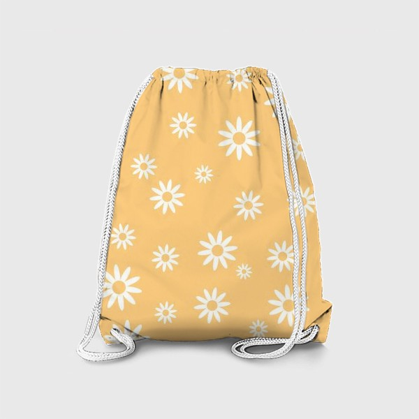 Рюкзак «Паттерн с силуэтами ромашек»