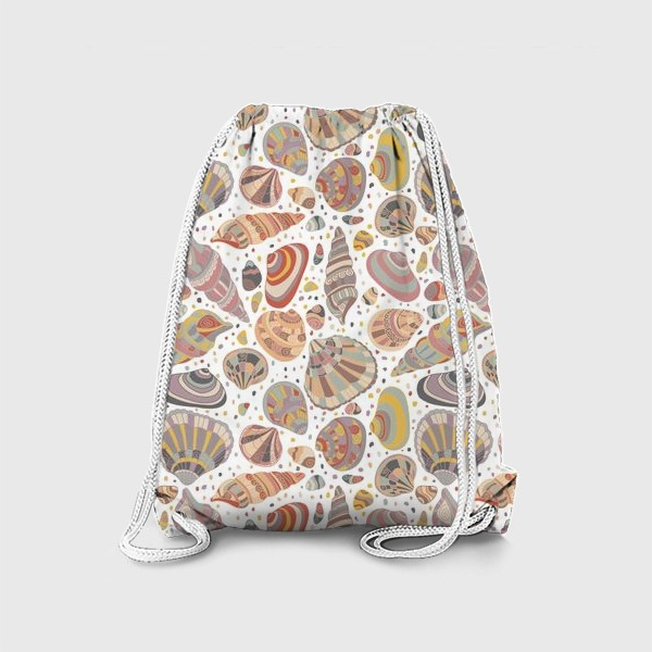 Рюкзак «Нежные ракушки, паттерн»