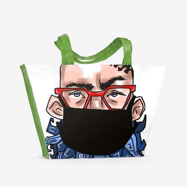 Пляжная сумка «В маске »