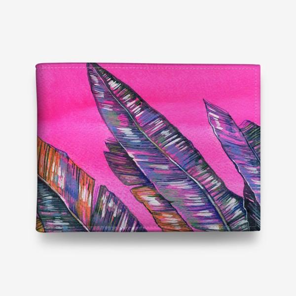 Кошелек «Листья пальмы. Неон»