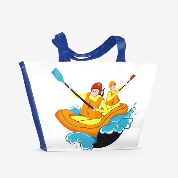 Пляжная сумка «Парный рафтинг»