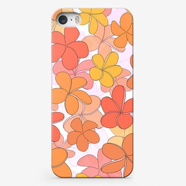 Чехол iPhone «Цветы паттерн. »