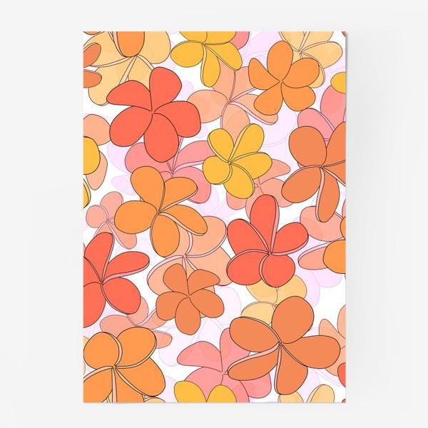 Постер «Цветы тропические паттерн. »