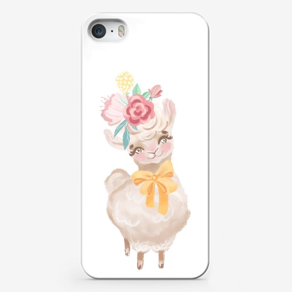 Чехол iPhone «Милая лама »