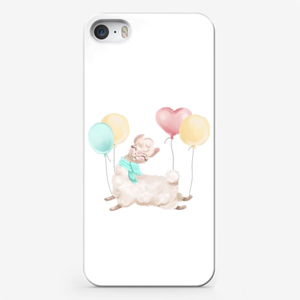 Чехол iPhone «Лама с шариками»