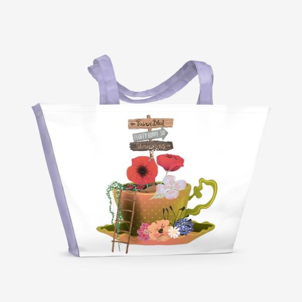 Пляжная сумка «Фэнтези чашка»