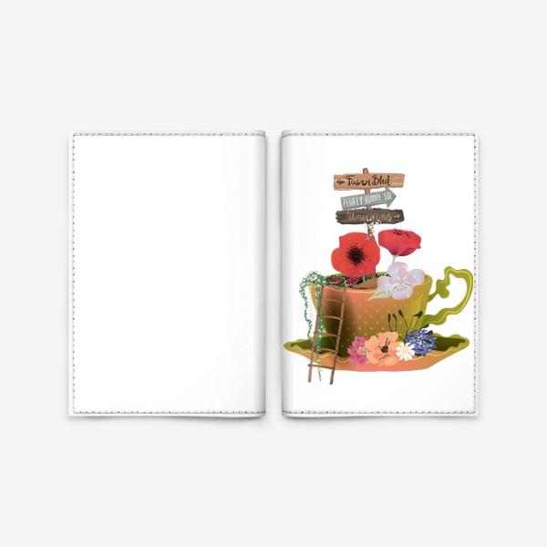 Обложка для паспорта «Фэнтези чашка»