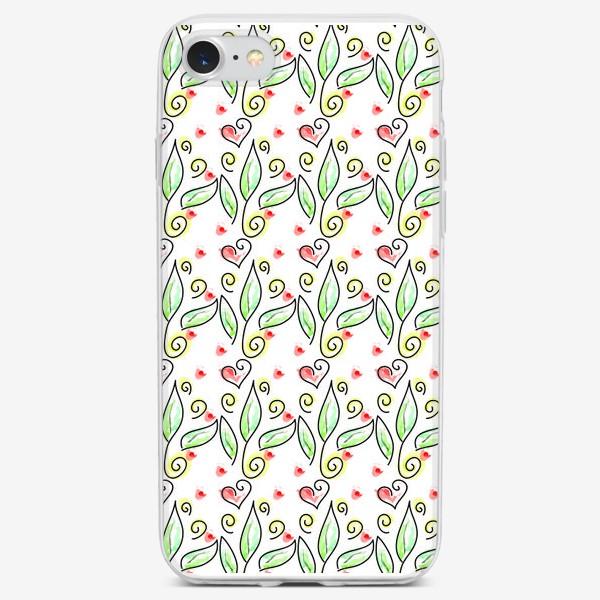 Чехол iPhone «Любовь в цветах»