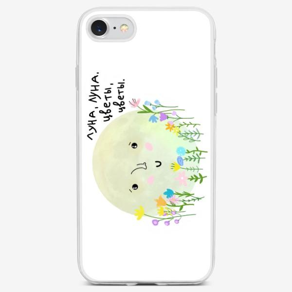 Чехол iPhone «луна-луна, цветы-цветы»