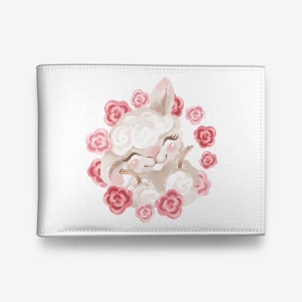 Кошелек «Лама с цветами»