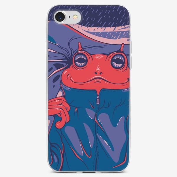 Чехол iPhone «лягушка под листом»