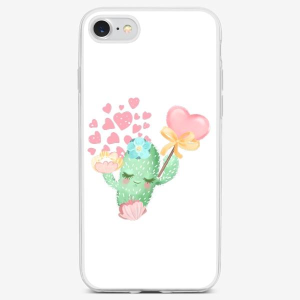 Чехол iPhone «Кактус Валентин »