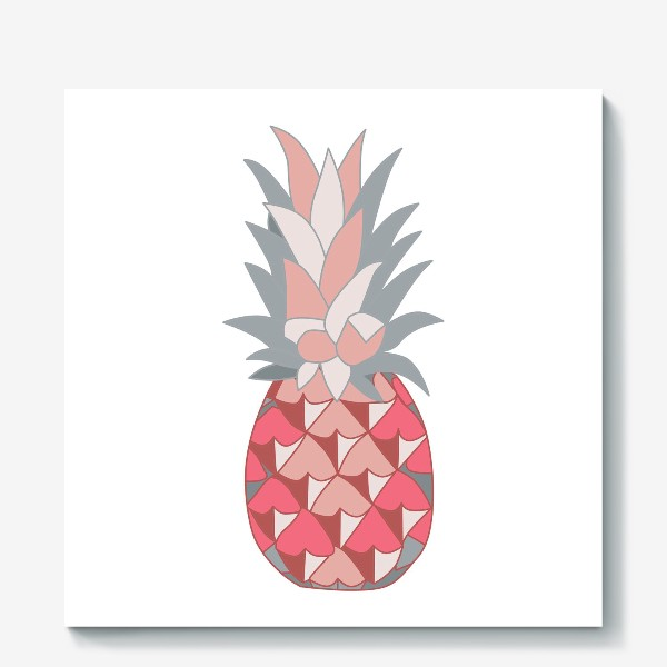 Холст «Розовый ананас»