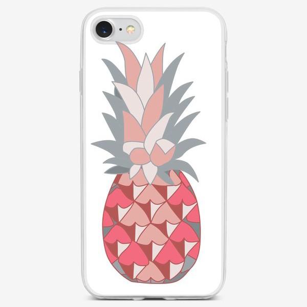 Чехол iPhone «Розовый ананас»
