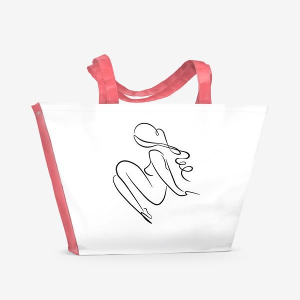 Пляжная сумка «Силуэт девушки»