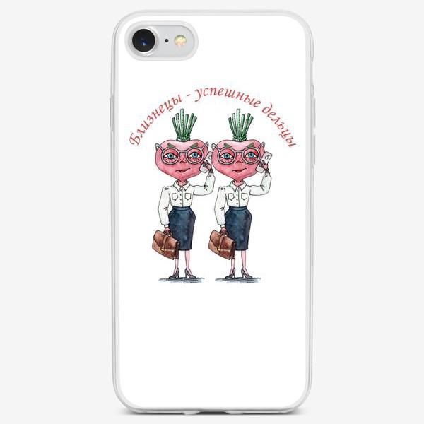 Чехол iPhone «Близнецы - успешные дельцы»