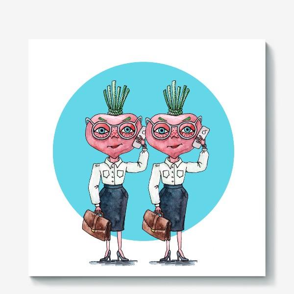 Холст «редиски-близняшки»