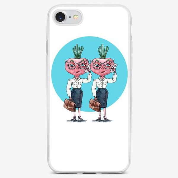 Чехол iPhone «редиски-близняшки»
