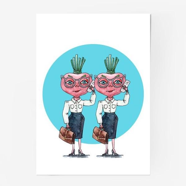 Постер «редиски-близняшки»