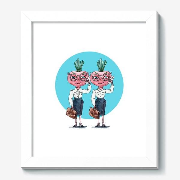 Картина «редиски-близняшки»