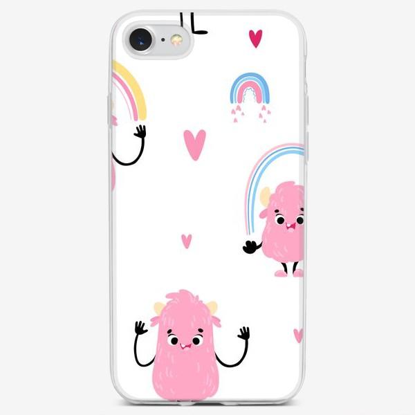 Чехол iPhone «monster and rainbow»
