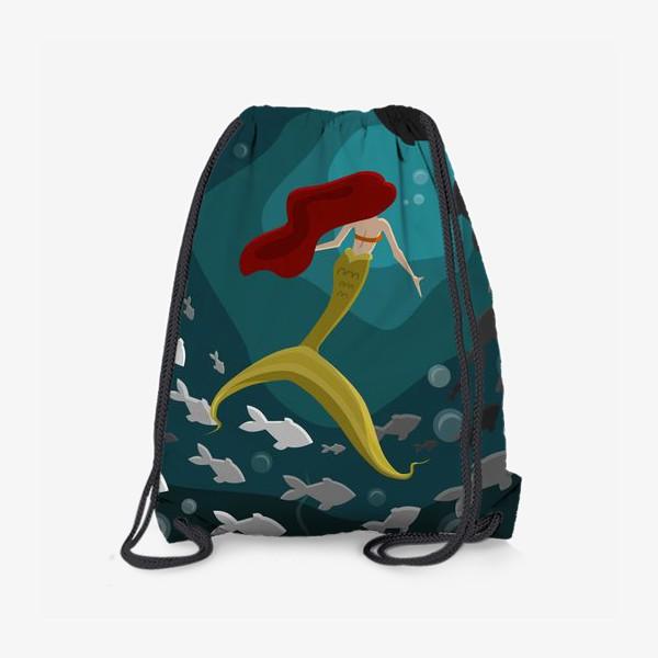 Рюкзак «Русалка под водой с рыбками»
