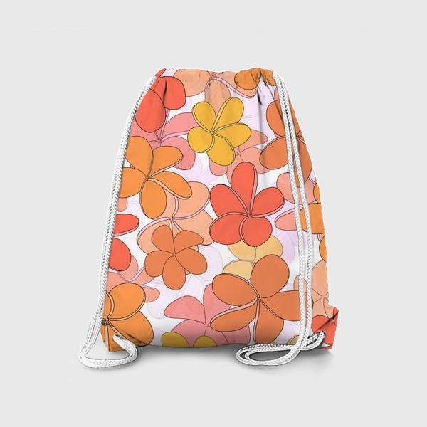 Рюкзак «Цветы тропические паттерн. »