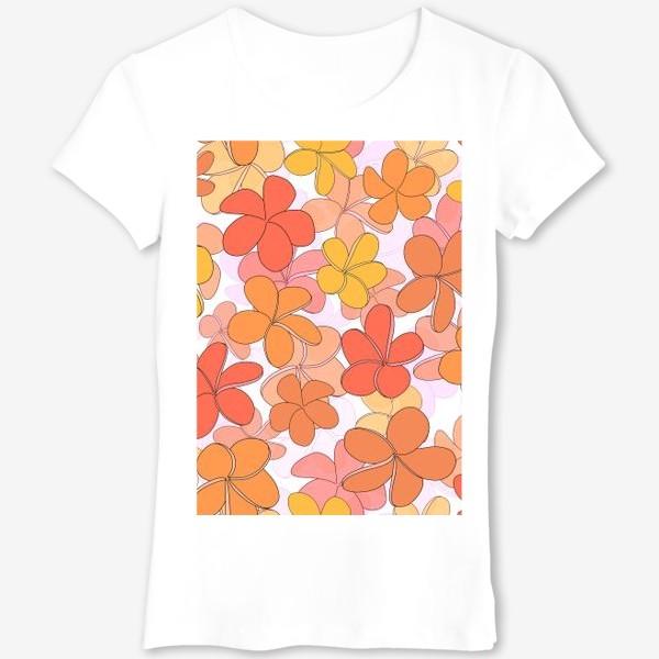 Футболка «Цветы тропические паттерн. »