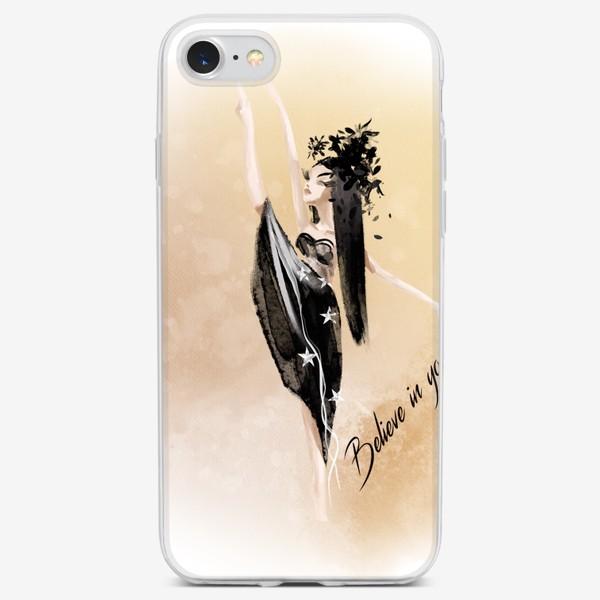 Чехол iPhone «Мотивирующий слоган Believe in yourself»