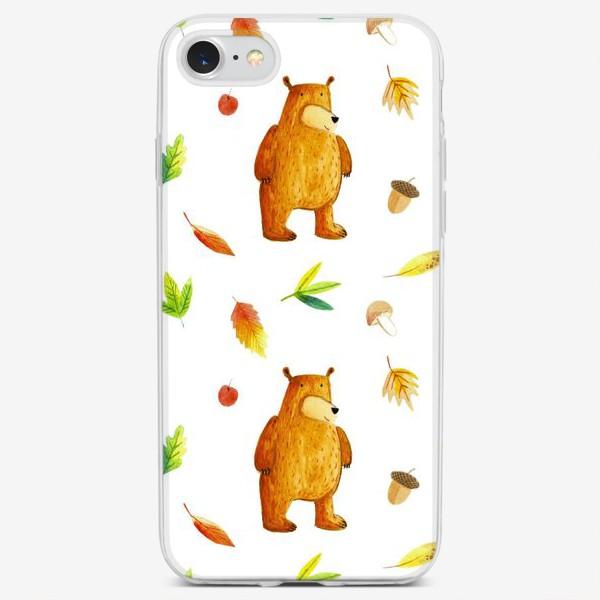 Чехол iPhone «Осенний медведь»