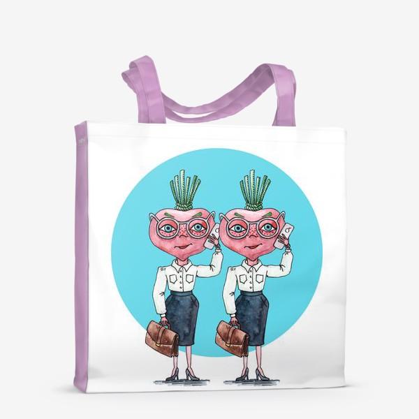 Сумка-шоппер «редиски-близняшки»