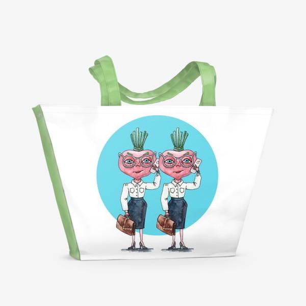Пляжная сумка «редиски-близняшки»
