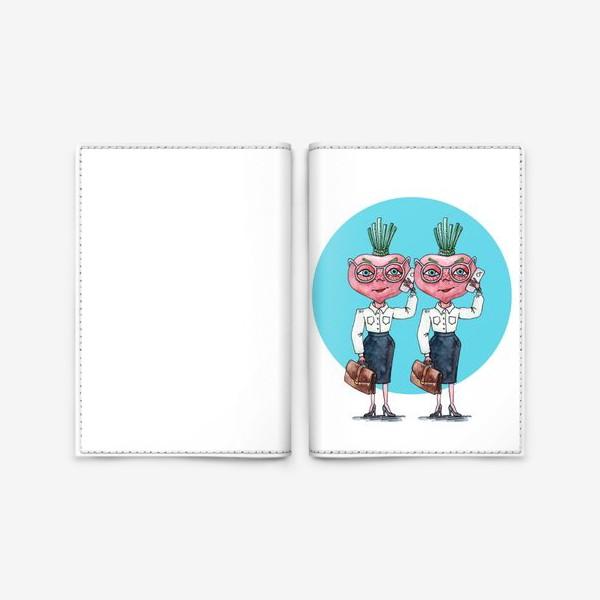 Обложка для паспорта «редиски-близняшки»