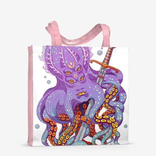 Сумка-шоппер «осьминог с мечом»