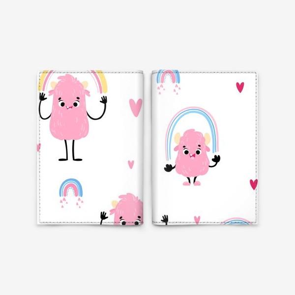 Обложка для паспорта «monster and rainbow»