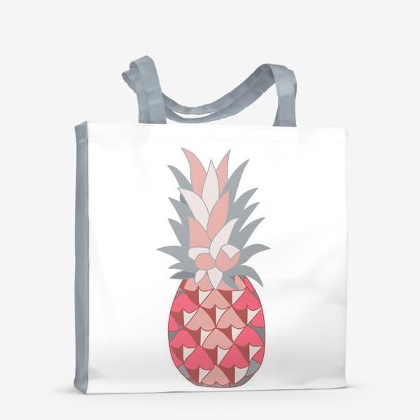 Сумка-шоппер «Розовый ананас»