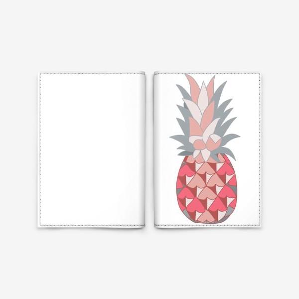 Обложка для паспорта «Розовый ананас»