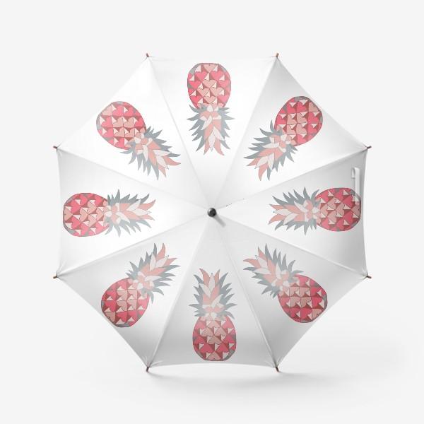 Зонт «Розовый ананас»