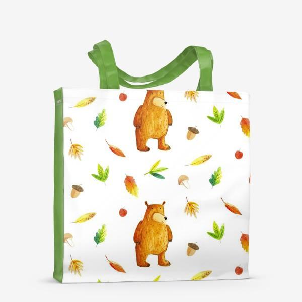 Сумка-шоппер «Осенний медведь»