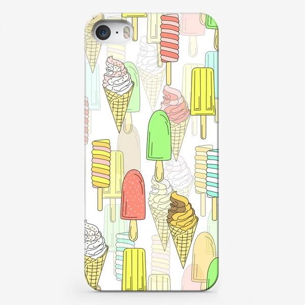Чехол iPhone «Эскимо. Паттерн мороженое»