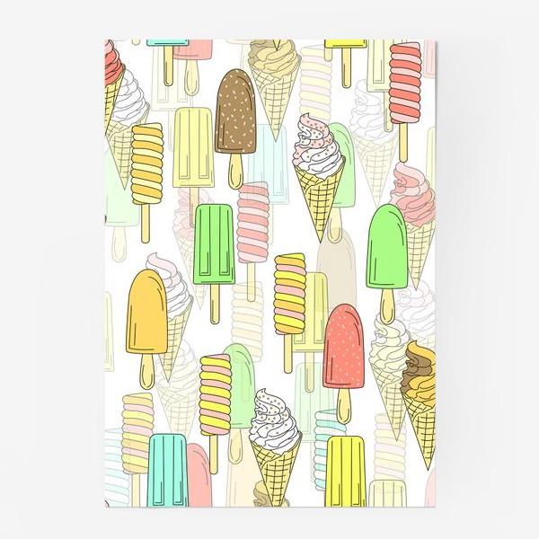 Постер «Эскимо. Паттерн мороженое»