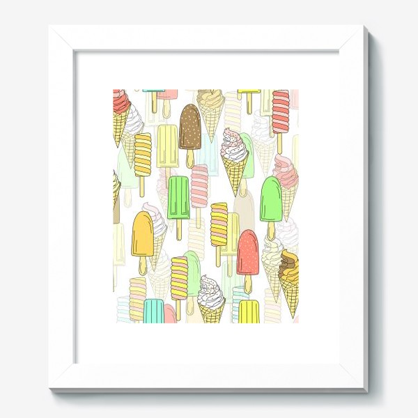 Картина «Эскимо. Паттерн мороженое»