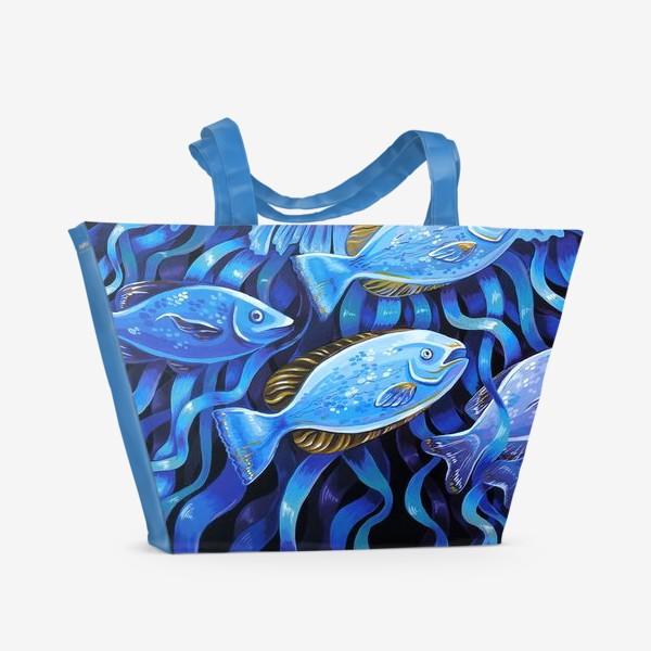 Пляжная сумка «портрет медузы»