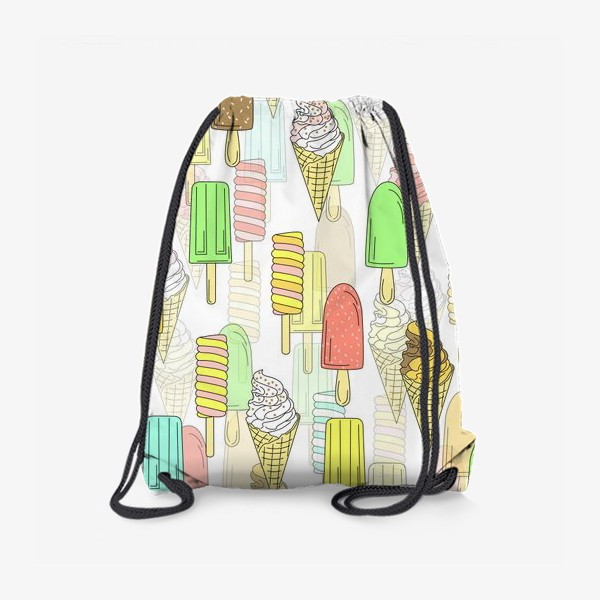 Рюкзак «Эскимо. Паттерн мороженое»